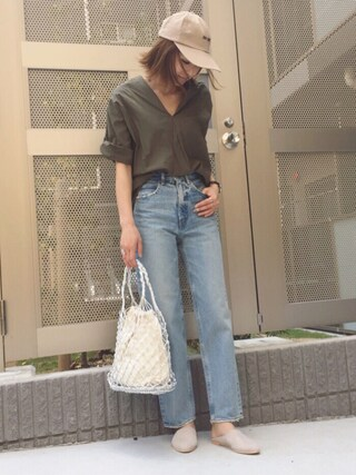 「MV JW Tapered(MOUSSY)」 using this mana looks