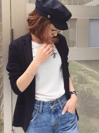 「cursive moussy T(MOUSSY)」 using this mana looks