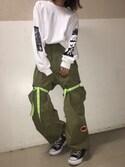 seilaさんの「LABRAT L-S1748 Parachute pants(LABRAT|ラブラット)」を使ったコーディネート