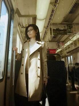 ようこさんの「【FUDGE掲載】STUDIOUS ダブルフェイストレンチコート MADE IN JAPAN(STUDIOUS|ステュディオス)」を使ったコーディネート