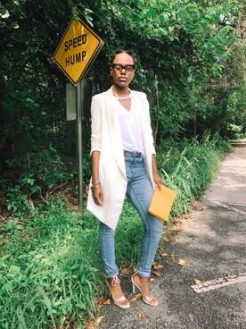 「H&M Super-slim-fit Pants(H&M)」 using this Jasmine Byrd looks