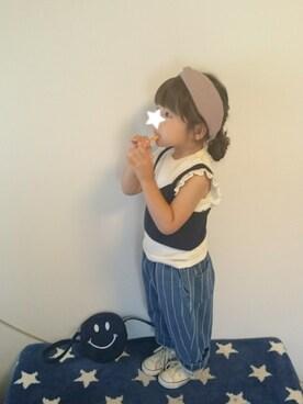 hinacoccoさんの「キッズ コンバース オールスター ハイカット CONVERSE CHILD ALL STAR RZ HI 325136(CONVERSE コンバース)」を使ったコーディネート