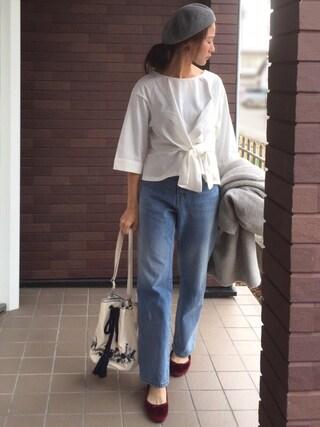 「刺繍巾着ショルダー(Discoat Parisien WOMENS)」 using this mayu looks