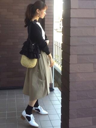 mayuさんの「春夏★セパレートフリンジパンプス★6123(ORiental TRaffic|オリエンタルトラフィック)」を使ったコーディネート