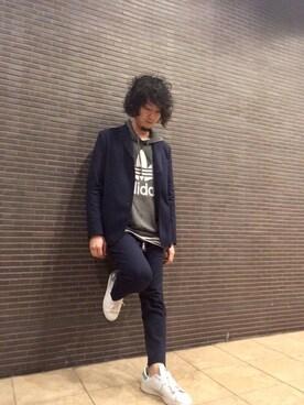 藤井 すぐるさんの(adidas originals|アディダスオリジナルス)を使ったコーディネート