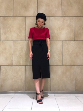 satomiiさんの「ウエストベルトツキスカート768008(Andemiu)」を使ったコーディネート