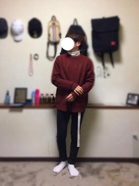 かわのゆさんの「NIKE AIR HUARACHE【SP】(NIKE ナイキ)」を使ったコーディネート