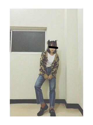 高橋愛さんの「サンリオTシャツ(merry jenny|メリージェニー)」を使ったコーディネート