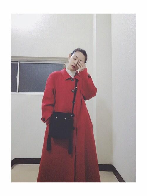 高橋愛さんの「SUEDE BUCKET BAG(MILKFED.)」を使ったコーディネート