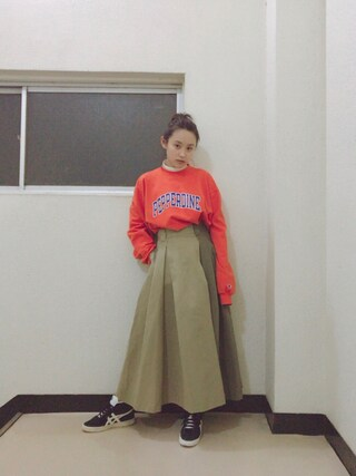 「Dickiesコラボスカート【niko and ...】(niko and...)」 using this 高橋愛 looks