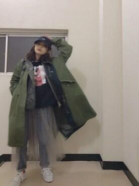 高橋愛さんの(X-girl|エックスガール)を使ったコーディネート