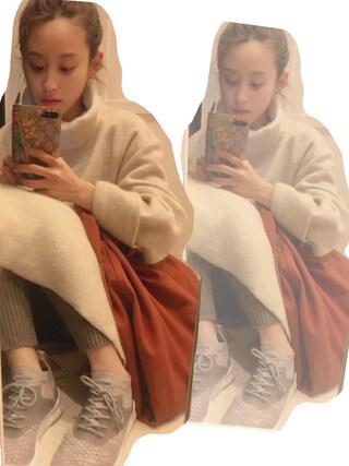 高橋愛さんの「FRANZ BIG DRESS(mother|マザー)」を使ったコーディネート