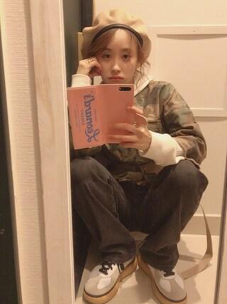 高橋愛さんの「VOTE MAKE NEW CLOTHES JAPONICATION BDU(VOTE MAKE NEW CLOTHES|ボートメイクニュークローズ)」を使ったコーディネート