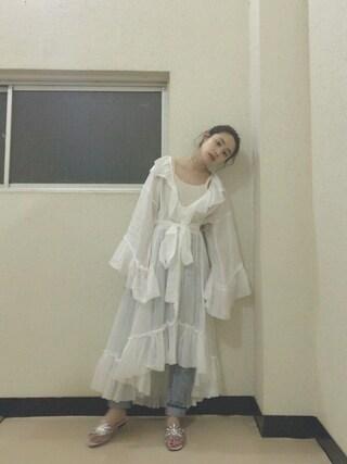 高橋愛さんの「Ruffle Gown Dress(styling/|スタイリング)」を使ったコーディネート