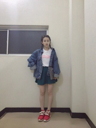 「S/S TEE BAR(Tシャツ/ロゴ/バー)(MILKFED.)」 using this 高橋愛 looks