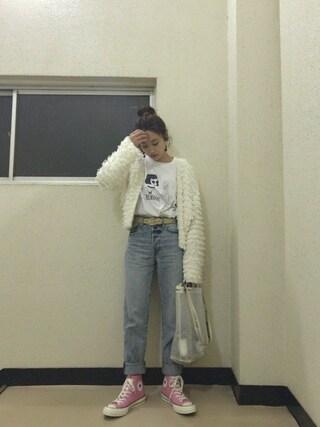 「ループヤーンカーディガンSS(Another Edition)」 using this 高橋愛 looks