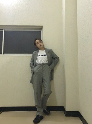 「SWIFT LOGO S/S TEE(X-girl)」 using this 高橋愛 looks