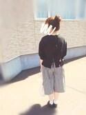 moezouさんの「サニークラウズ kazumiと作った巾着バッグ(Sunny clouds サニークラウズ)」を使ったコーディネート