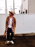 Hiroki Matsudaさんの「ロングブリムウールハット(FREAK'S STORE|ヘルス)」を使ったコーディネート