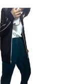 メグさんの「MEN スーピマコットンクルーネックT(半袖)(ユニクロ|パナマボーイ)」を使ったコーディネート