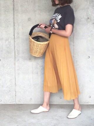 B.さんの「ロックTシャツ(THE SHINZONE|ザ シンゾーン)」を使ったコーディネート