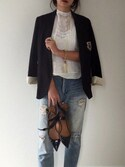 「LEVI'S(R) MADE&CRAFTED(TM)-BLOUSE BRIGHT WHITE(Levi's)」 using this B. looks