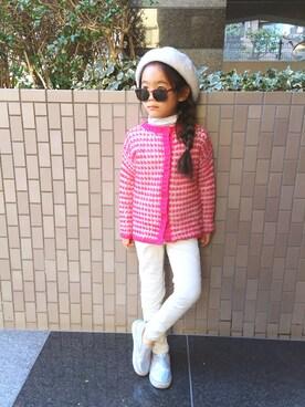 マチュさんの「キッズ ファッショングラス / スクエア ブラウン(SPICE|スパイス)」を使ったコーディネート