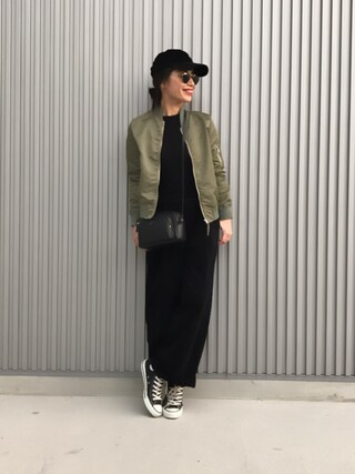 「BY ナイロンツイルMA-1ブルゾン o(BEAUTY&YOUTH UNITED ARROWS)」 using this NANA looks