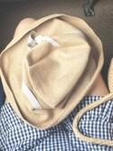 c h i h i r ☻︎さんの「【mature ha.(マチュアーハ)】Boxed Hat 11cm Brim(mature ha.|マチュア)」を使ったコーディネート
