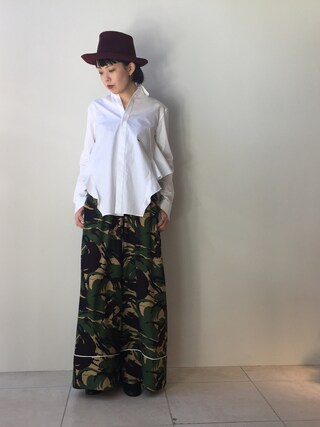 MIDWEST TOKYO WOMEN|kawamuraさんの「MM6 Maison Margiela メタリックヒールレザーパンプス(MM6|エムエムシックス)」を使ったコーディネート