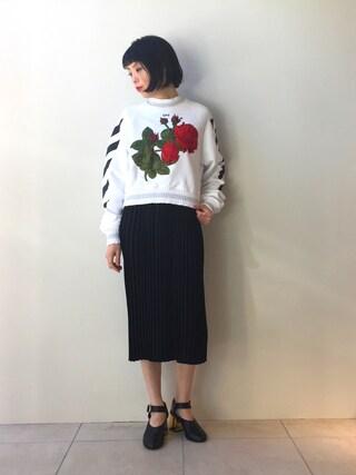 MIDWEST TOKYO WOMEN|kawamuraさんの「MM6 プリーツワンピース(MM6|エムエムシックス)」を使ったコーディネート