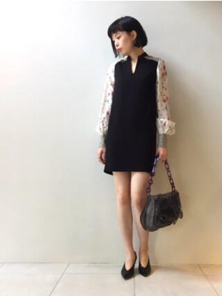 MIDWEST TOKYO WOMEN|kawamuraさんの「mame ビッグチェーンバッグ(mame|マメ)」を使ったコーディネート