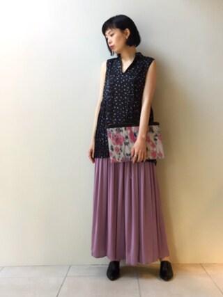 MIDWEST TOKYO WOMEN|kawamuraさんの「FABIO RUSCONI 『BOLGHERI』パイソンヒールミュール(FABIO RUSCONI|ファビオ ルスコーニ)」を使ったコーディネート