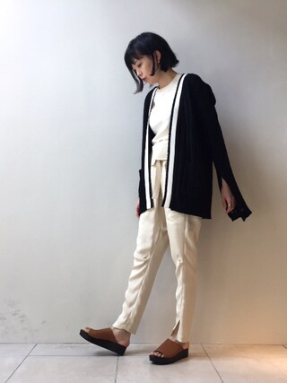 MIDWEST TOKYO WOMEN|kawamuraさんの「【FABIO RUSCONI】レザーシャワーサンダル(FABIO RUSCONI|ファビオ ルスコーニ)」を使ったコーディネート