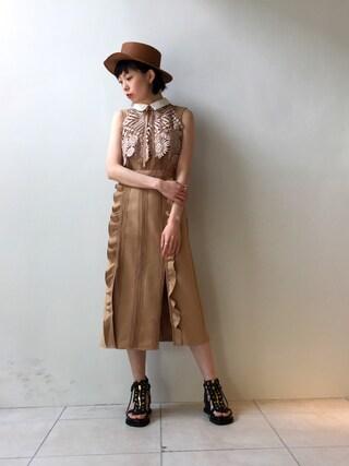 MIDWEST TOKYO WOMEN|kawamuraさんの「REINHARD PLANK 『ZORRO SHORT』ハット(Reinhard Plank|レナードプランク)」を使ったコーディネート