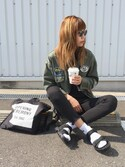 「WAPPEN BOX MILITARY SH(MOUSSY)」 using this asammy looks