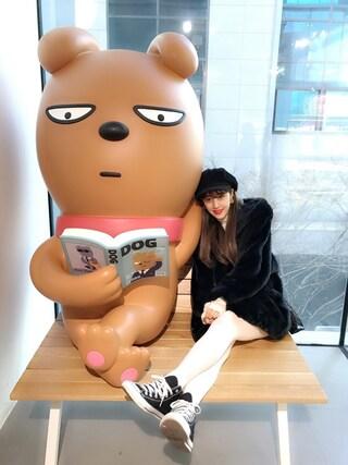 夏焼雅さんの「【販売開始NG】ベロアテープファーCT(jouetie ジュエティ)」を使ったコーディネート