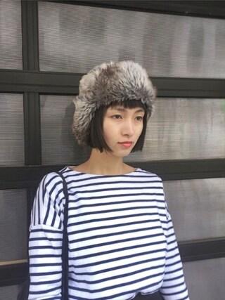 KAINO Yuさんの「ORCIVAL / ドロップショルダー ロングTシャツ(ORCIVAL オーシバル)」を使ったコーディネート