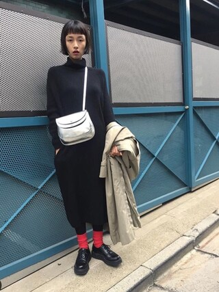 「ダブルフラップショルダー(conges payes ADIEU TRISTESSE)」 using this KAINO Yu looks
