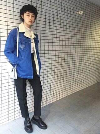 KAINO Yuさんの「KIJIMA TAKAYUKI 2WAYベレーキャスケット(KIJIMA TAKAYUKI キジマ タカユキ)」を使ったコーディネート