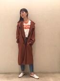 Ayano Fujitaさんの「Levi's Ringer Surf Tee(Levi's|リーバイス)」を使ったコーディネート