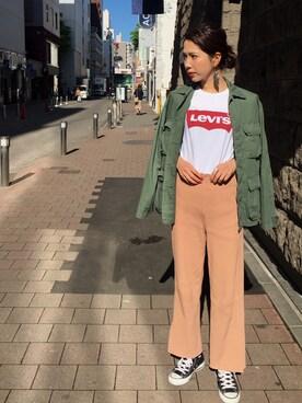 ビューティ&ユース ユナイテッドアローズ 札幌店|Ayano Fujitaさんの「<LEVI'S>ロゴTシャツ(BEAUTY&YOUTH UNITED ARROWS)」を使ったコーディネート