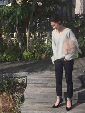 LIFE's堀江店|Nakai     Ayamiさんの「ファーチェーンバッグ(TODAYFUL)」を使ったコーディネート