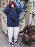 AMIさんの「綿麻ルーズビックパンツ【niko and...】(niko and...|ニコアンド)」を使ったコーディネート