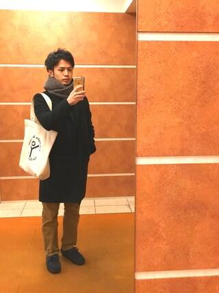 Ryo-jiさんの「◇12G リップルクルーネックニット(417byEDIFICE|フォーワンセブン エディフィス)」を使ったコーディネート
