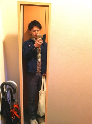 Ryo-jiさんの「【DANTON ダントン】丸襟カバーオールジャケット NTF <16SS新入荷>(Danton|ダントン)」を使ったコーディネート