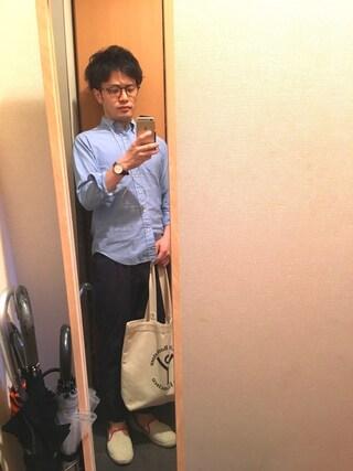 Ryo-jiさんの「BY ドライ コードレーン 1プリーツ イージーパンツ(BEAUTY&YOUTH UNITED ARROWS|ビューティアンドユースユナイテッドアローズ)」を使ったコーディネート