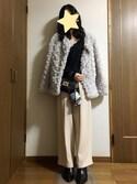 nanamiさんの「スカーフ巻きファーチャーム(fifth|フィフス)」を使ったコーディネート