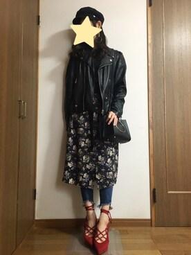 nanamiさんの「カットレースハイネック 743877(LOWRYS FARM|ローリーズ ファーム)」を使ったコーディネート
