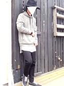 yu-ku0405さんの「ワッフル 無地 ロング丈Tシャツ(8(eight)|エイト)」を使ったコーディネート